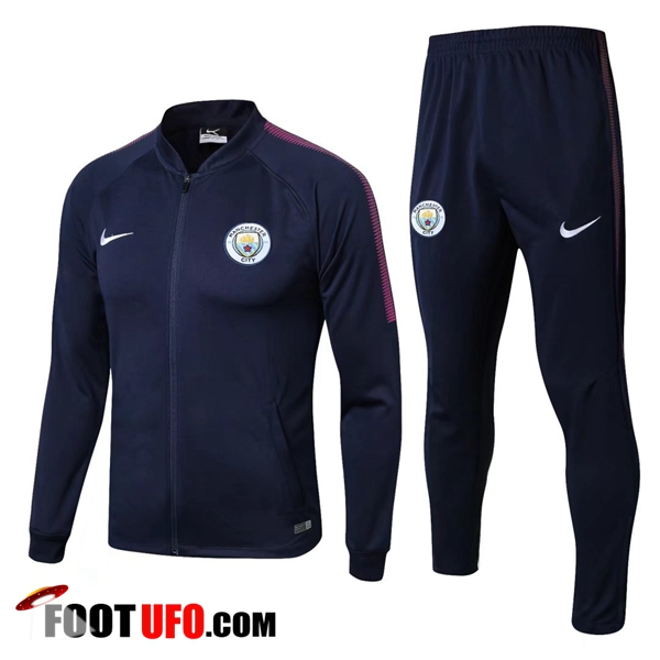 Survetement de Foot - Veste Manchester City Bleu Marine Ensemble 2017/2018