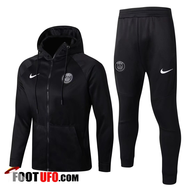 Sweat a Capuche Survetement Foot PSG Noir 2017/2018 Ensemble