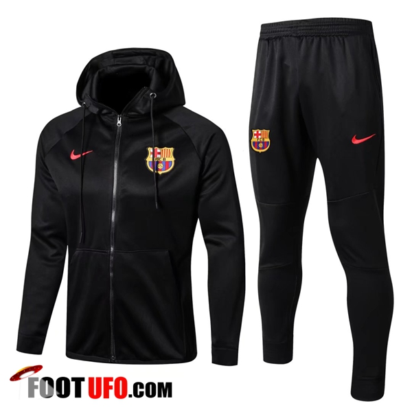 Sweat a Capuche Survetement Foot FC Barcelone Noir 2017/2018 Ensemble