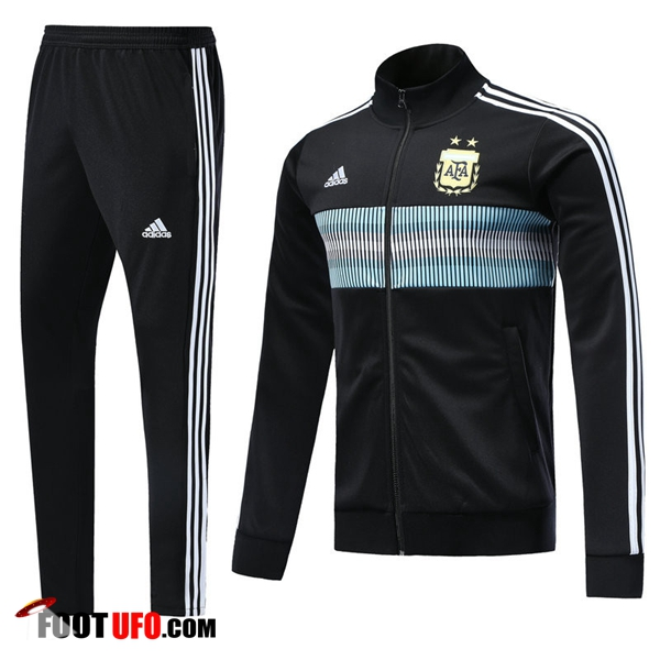 Survetement de Foot - Veste Argentine Noir Ensemble 2018/2019