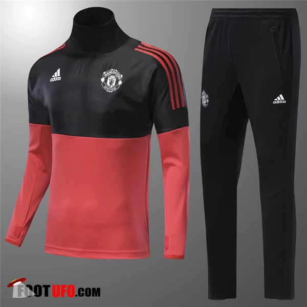 Ensemble Survetement de Foot Manchester United Enfant Rouge/Noir 2017/2018