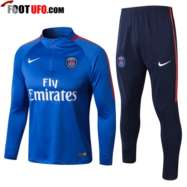 Survetement de Foot PSG Bleu Ensemble 2017/2018
