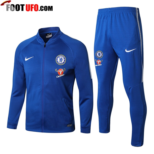 Survetement de Foot - Veste FC Chelsea Bleu Ensemble 2017/2018