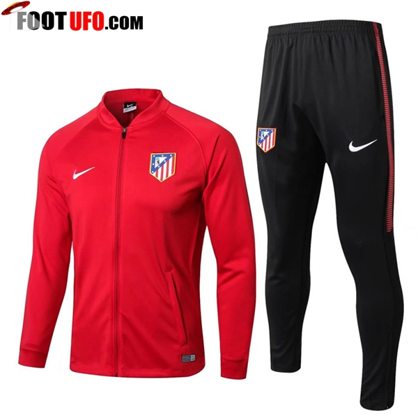 Survetement de Foot - Veste Atletico Madrid Rouge Ensemble 2017/2018