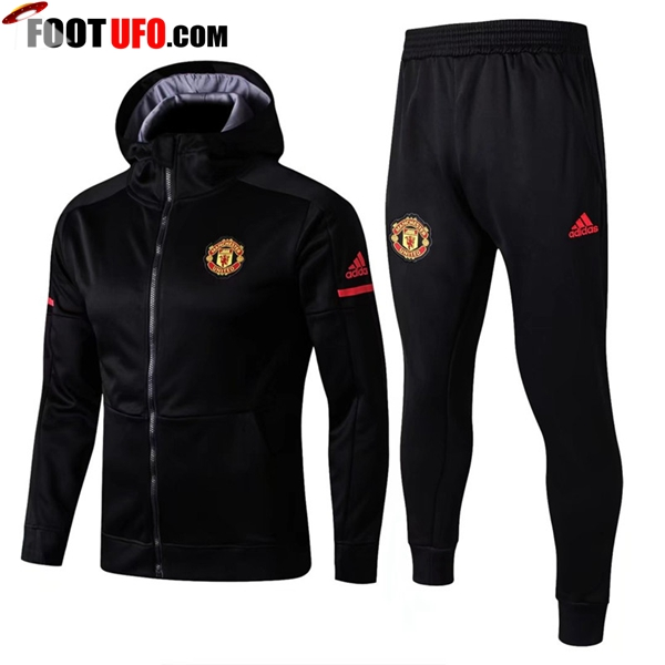 Sweat a Capuche Survetement Foot Manchester United Noir 2017/2018 Ensemble