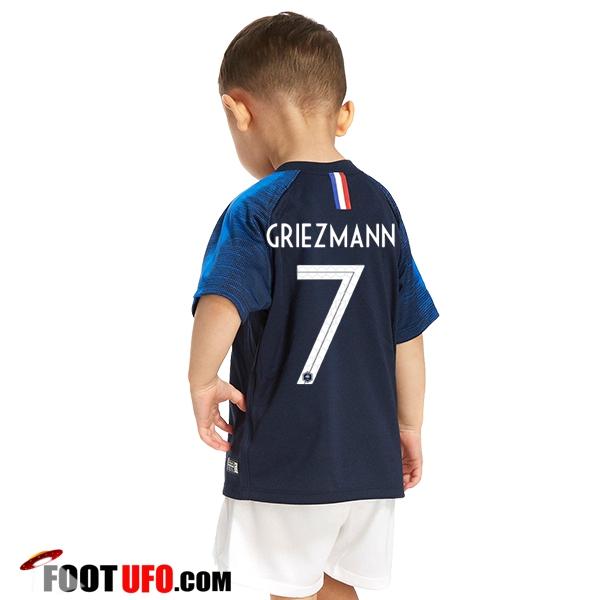 800d9cdf057c2 Nouveau Maillot Equipe de France Enfant (Griezmann 7) Domicile 2018 ...