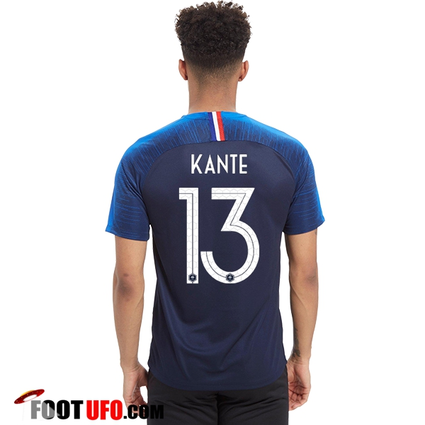 nouveau maillot france coupe du monde 2018 kante 13 domicile achat fiable. Black Bedroom Furniture Sets. Home Design Ideas