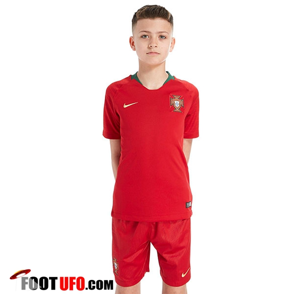 nouveau maillot portugal enfant coupe du monde 2018 domicile vente fiable. Black Bedroom Furniture Sets. Home Design Ideas
