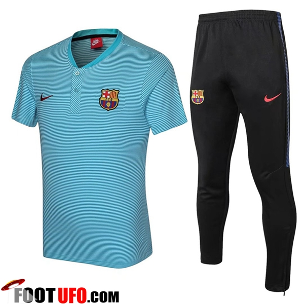 Ensemble Polo FC Barcelone + Pantalon Bleu 2017/2018