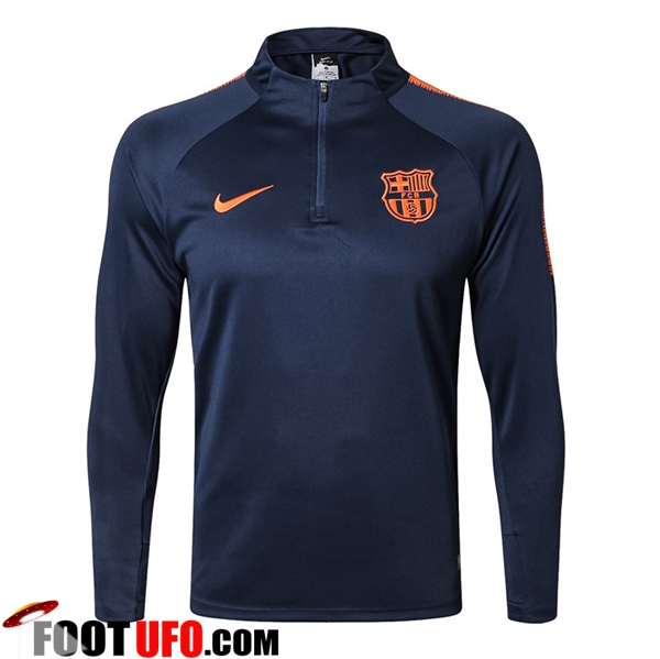 Sweatshirt Training FC Barcelone Bleu Marine 2017/2018