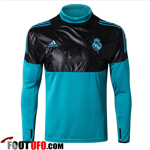 Sweatshirt Training Real Madrid Noir/Bleu 2017/2018