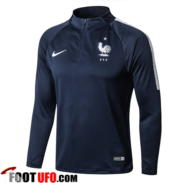 Sweatshirt Training France Bleu Marine 2018/2019