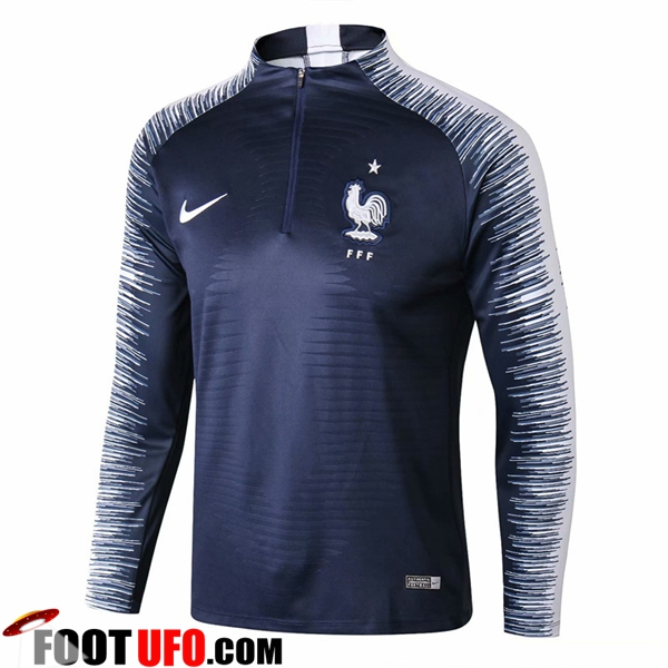 Sweatshirt Training France Strike Drill Bleu Marine 2018/2019