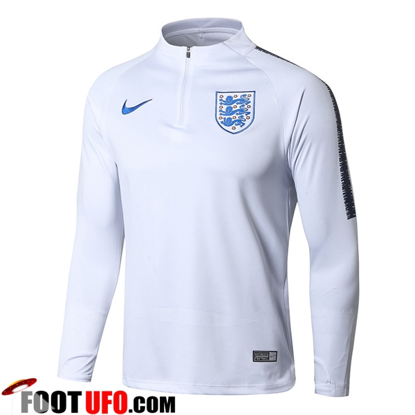 Sweatshirt Training Angleterre Blanc 2018/2019