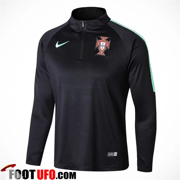 Sweatshirt Training Portugal Noir 2018/2019