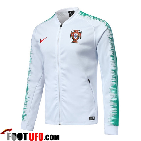 Veste Foot Portugal Blanc 2018/2019