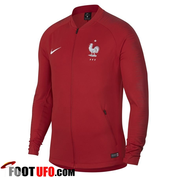 Veste Foot France Rouge 2018/2019
