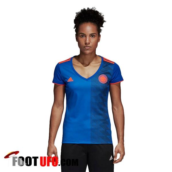 nouveau maillot foot equipe de colombie 2018 2019 femme exterieur acheter fiable. Black Bedroom Furniture Sets. Home Design Ideas