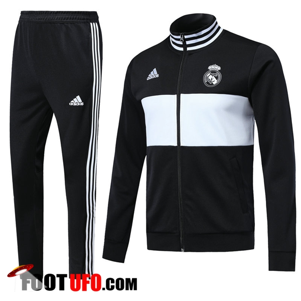 Survetement de Foot - Veste Real Madrid Noir/Blanc Ensemble 2018/2019