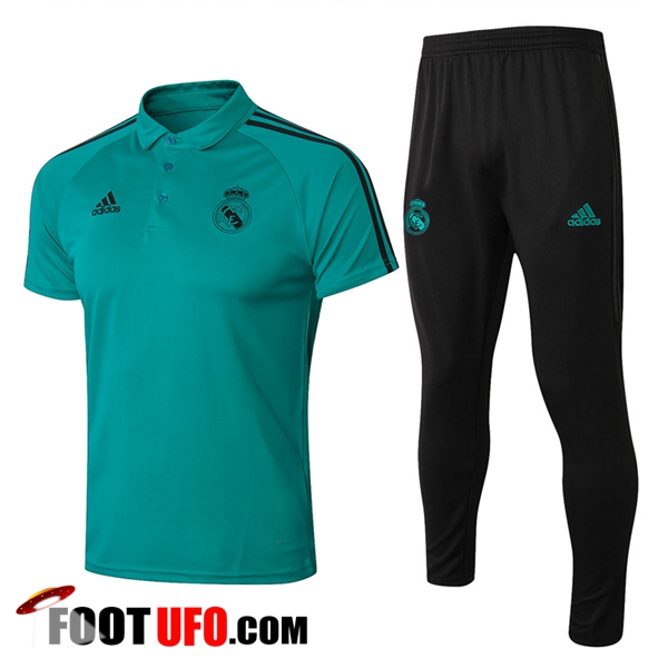 Ensemble Polo Real Madrid + Pantalon Vert 2017/2018