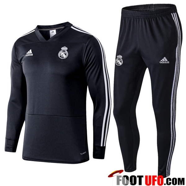 Ensemble Survetement de Foot Real Madrid Noir 2018/2019