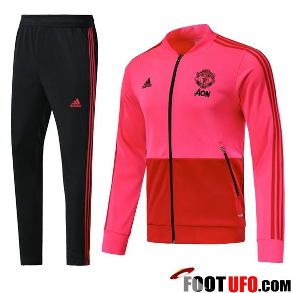 Ensemble Survetement de Foot - Veste Manchester United Rouge 2018/2019