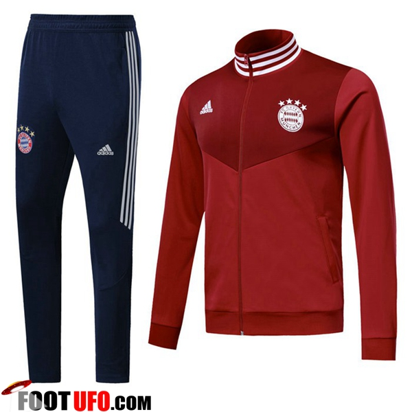 Ensemble Survetement de Foot - Veste Bayern Munich Rouge 2018/2019
