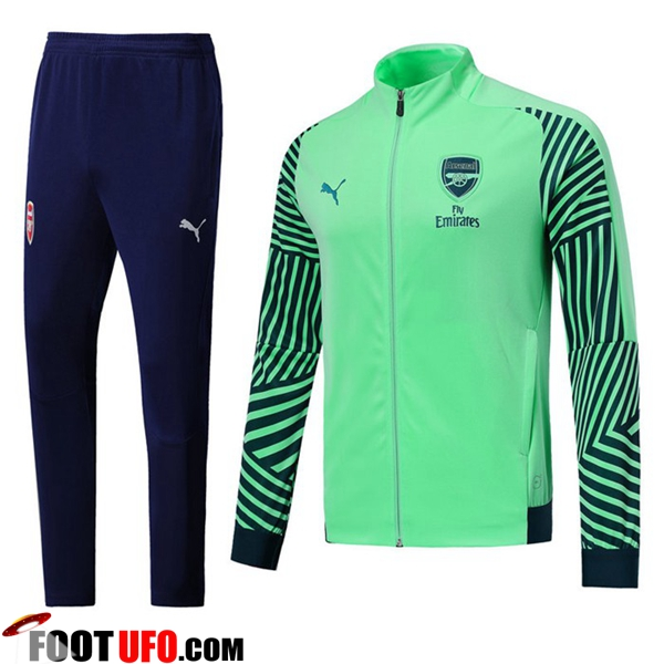 Ensemble Survetement de Foot - Veste Arsenal Vert 2018/2019
