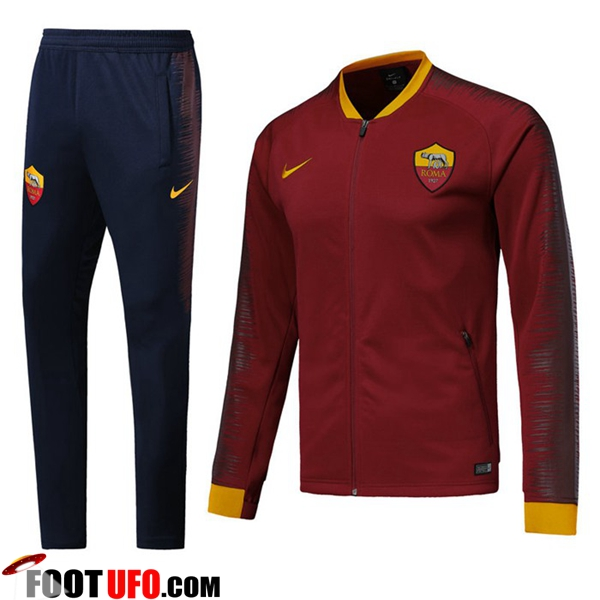 Ensemble Survetement de Foot - Veste AS Roma Bordeaux 2018/2019