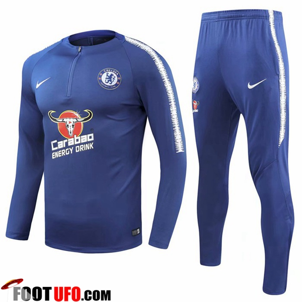 Ensemble Survetement de Foot FC Chelsea Bleu 2018/2019