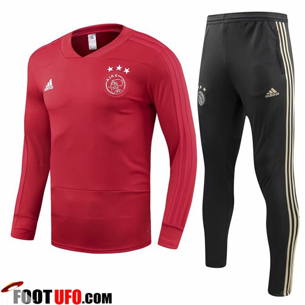 Ensemble Survetement de Foot AFC Ajax Rouge 2018/2019