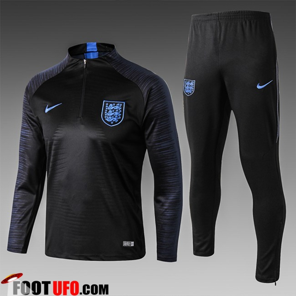Ensemble Survetement de Foot Angleterre Enfant Noir Strike Drill 2018/2019