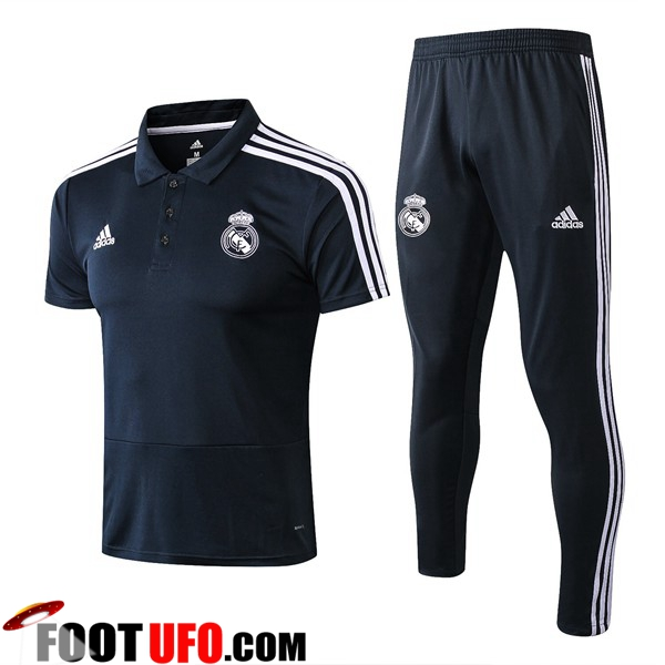 Ensemble Polo Real Madrid + Pantalon Noir 2018/2019