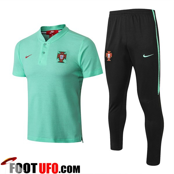 Ensemble Polo Portugal + Pantalon Vert 2018/2019