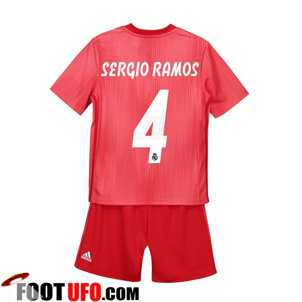 Maillot Real Madrid (SERGIO RAMOS 4) Enfants Third 2018/19