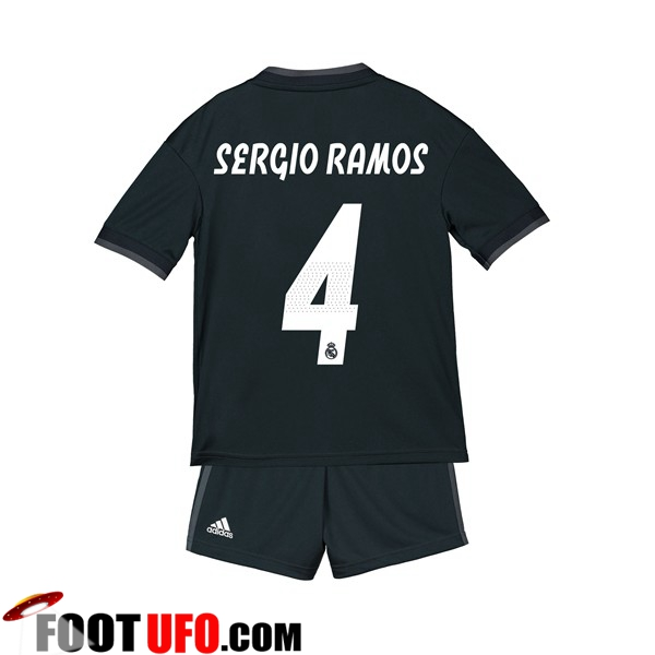 Maillot Real Madrid (SERGIO RAMOS 4) Enfants Exterieur 2018/19