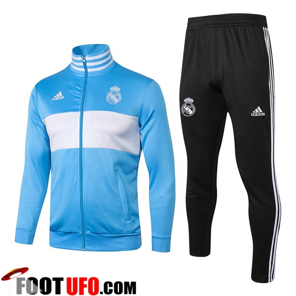 Ensemble Survetement de Foot - Veste Real Madrid Bleu/Blanc 2018/2019