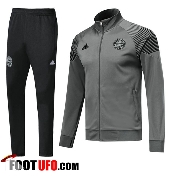 Ensemble Survetement de Foot - Veste Bayern Munich Gris 2018/2019