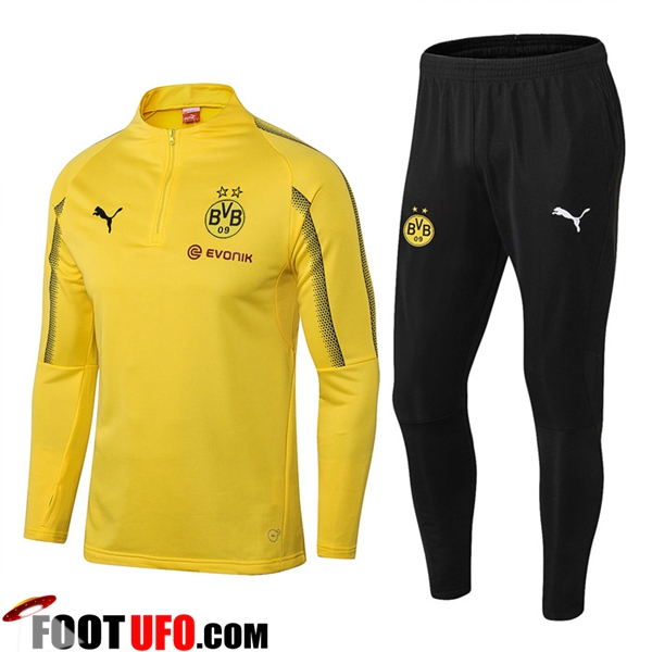 Ensemble Survetement de Foot Dortmund BVB Jaune 2018/2019