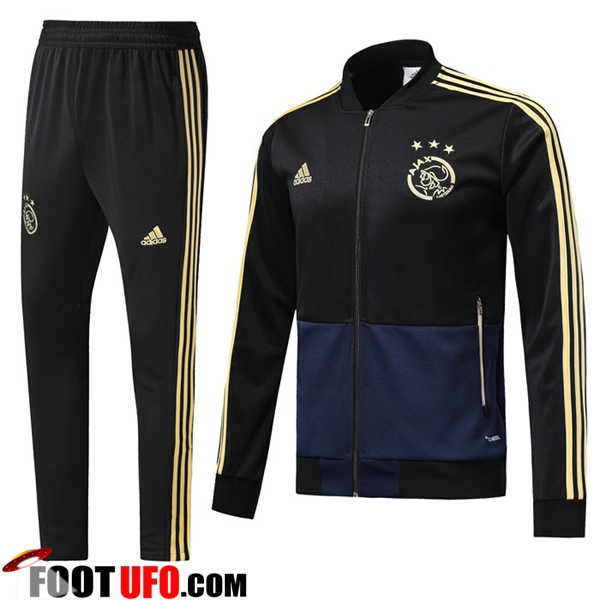 Ensemble Survetement de Foot - Veste AFC Ajax Noir 2018/2019