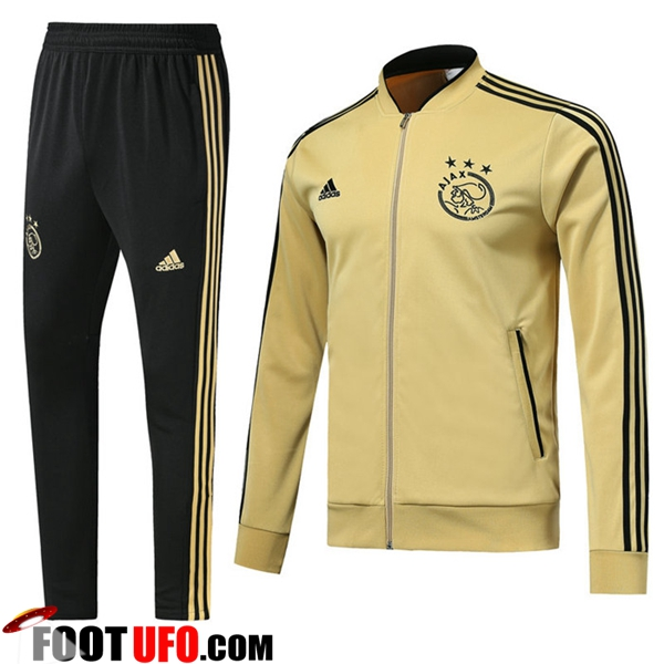 Ensemble Survetement de Foot - Veste AFC Ajax Jaune 2018/2019