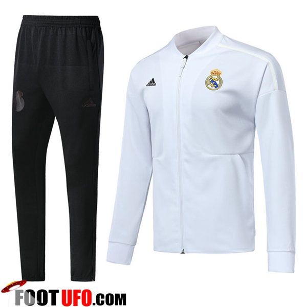 Ensemble Survetement de Foot - Veste Real Madrid Blanc 2018/2019