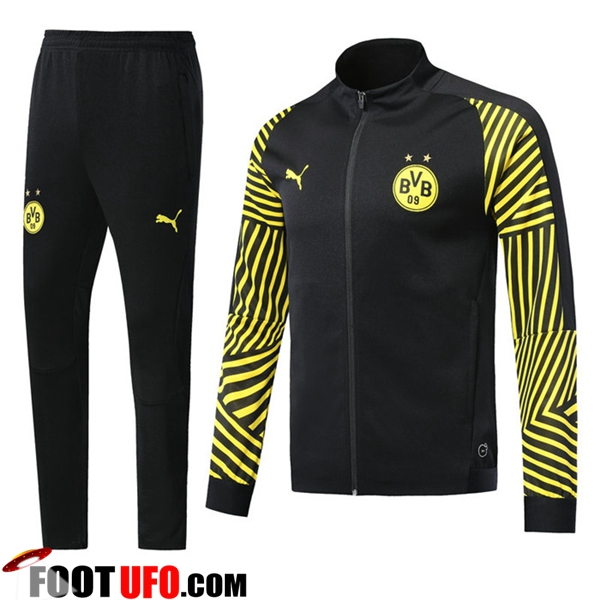 Ensemble Survetement de Foot - Veste Dortmund BVB Noir/Jaune 2018/2019