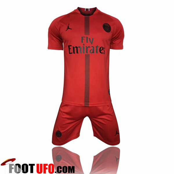 Maillot de Foot Jordan PSG Third - Rouge 2018/2019