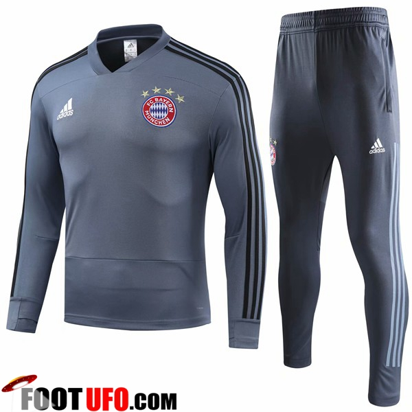 Ensemble Survetement de Foot Bayern Munich Gris 2018/2019