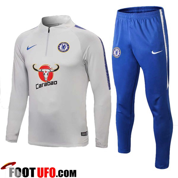 Ensemble Survetement de Foot FC Chelsea Gris 2018/2019
