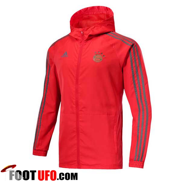 Veste Foot Coupe Vent Bayern Munich Rouge 2018/2019