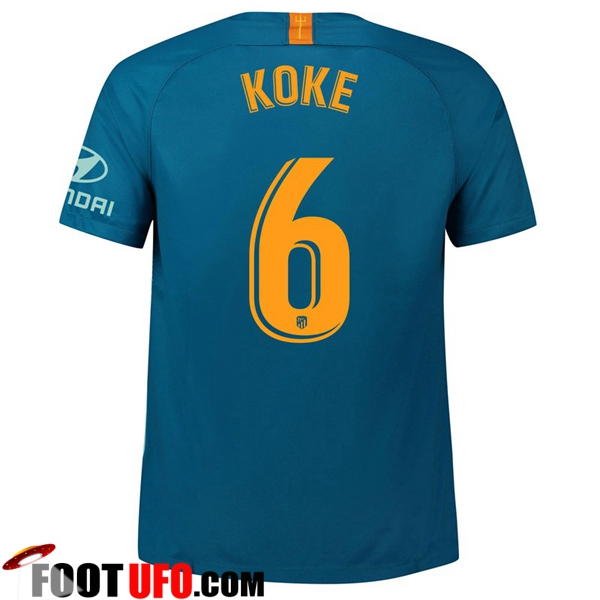 Maillot de Foot Atletico Madrid (6 KOKE) Third 2018/2019