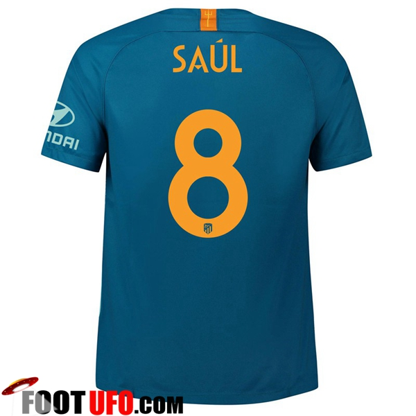 Maillot de Foot Atletico Madrid (8 SAUL) Third 2018/2019