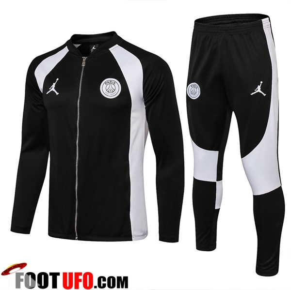 Ensemble Survetement de Foot - Veste Jordan PSG Noir/Blanc 2018/2019